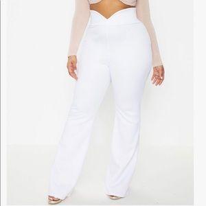 PLT + White Scuba Pants